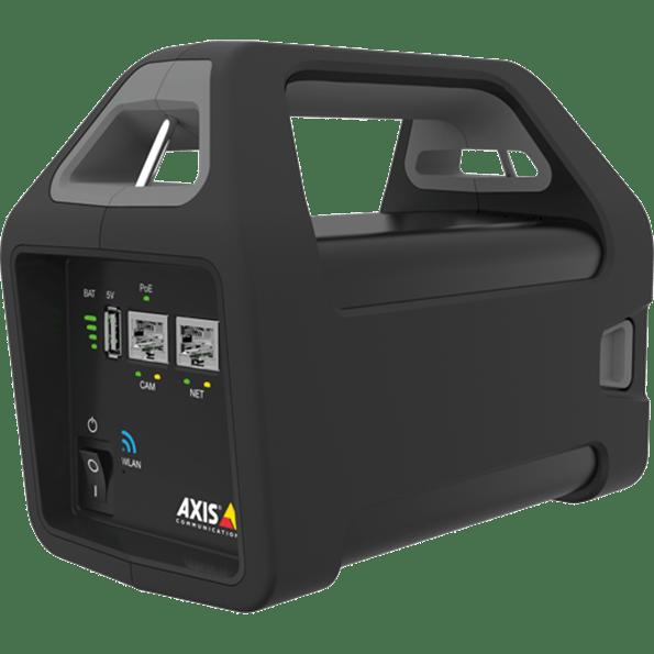 video nadzor Axis crne boje sa ručicom za nošenje