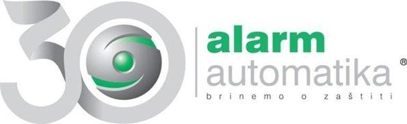 alarm automatika logo fotografija zeleno sive boje