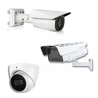 Tri različitih modela belih video kamera